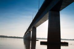 Freundschafts-Brücke Thailand - Laos Lizenzfreies Stockfoto