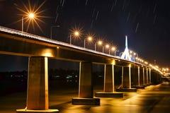 Freundschafts-Brücke Thailands, Laos Stockfotos