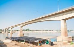 Freundschafts-Brücke, Thailand - Laos, zuerst Lizenzfreie Stockfotos