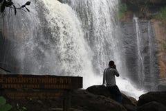 Freundschaftswasserfall ThailändischLao Lizenzfreie Stockbilder