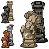 Freux et chevalier d'échecs illustration de vecteur