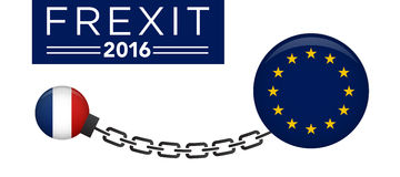 FREXIT France Decision to Leave the EU. 2016 Stock Images