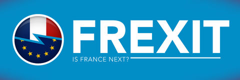 FREXIT France Decision to Leave the EU Stock Photos