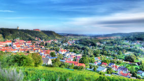 Freyburg. City view in hdr Royalty Free Stock Photo