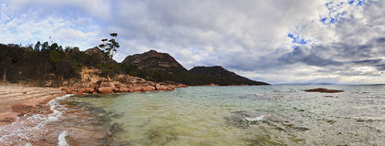 Freycinet Honeymoon Panorama Royalty Free Stock Photos