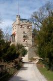 Freyschlösschen (Red tower) -  Salzburg Stock Images