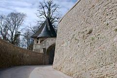 Freyschlösschen (Red tower) -  Salzburg Stock Image