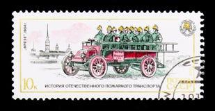 Freze pożarniczy silnik, 1904, historia Pożarniczych silników seria około 19, Obrazy Royalty Free