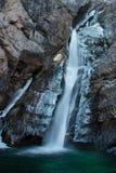 Frezzing-Wasserfall Stockbilder