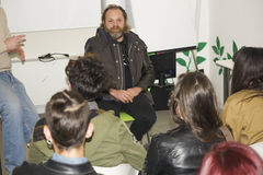 Författare för tecknad film för Davide toffolosångare Royaltyfri Bild