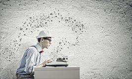 Författare för ung man Fotografering för Bildbyråer