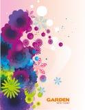 färg blommar lutning Arkivfoton