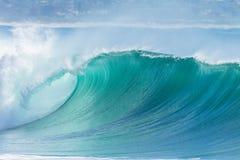 Färg för blått för havvåg Fotografering för Bildbyråer