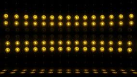 färg för ÖGLA för vertikal scanning 4K för etapp för ljus kula 3d guld- stock video