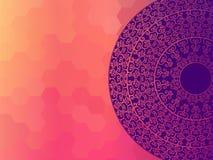 Färg Henna Mandala Background Royaltyfria Foton
