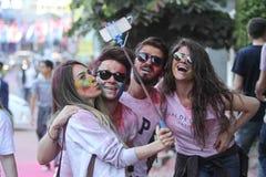 Färg upp inkörda Istanbul Fotografering för Bildbyråer