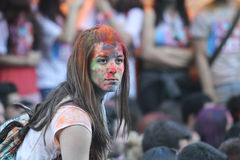 Färg upp inkörda Istanbul Arkivfoton