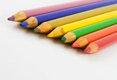 färga blyertspennor Royaltyfria Bilder