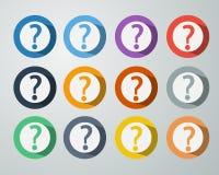 Fråga Mark Icon Symbol Fotografering för Bildbyråer