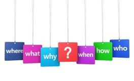 Fråga Mark And Questions Signs Fotografering för Bildbyråer