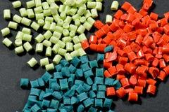 Färgad polymerkåda Fotografering för Bildbyråer