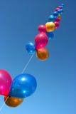 färgade ballonger Arkivfoto
