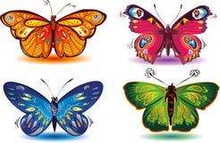 färgade fjärilar Arkivfoto