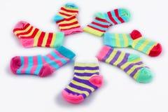 färgade sockor Fotografering för Bildbyråer