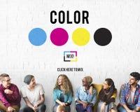 Färgdesignmodell Art Paint Pigment Motion Concept Arkivfoton