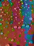 färgdroppar Arkivfoton