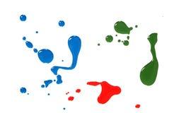 färgdroppar Fotografering för Bildbyråer
