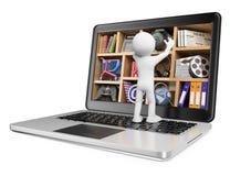 frågewhite för folk 3d ny teknik Multimediabegrepp Fotografering för Bildbyråer