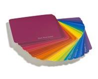 färgformgivareprovkartor Fotografering för Bildbyråer