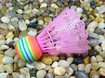 Färgglad plast- fjäderboll Royaltyfri Bild