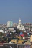 Färgglad stad av Valparaiso, Chile Royaltyfri Bild