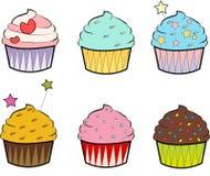 Färgglade muffin Royaltyfri Foto