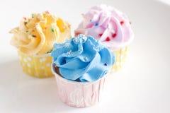 Färgglade muffin Arkivfoto