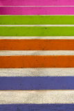 Färgglatt kliver Arkivbild