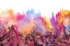 Färgkörning Arkivbilder