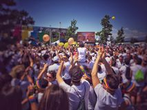 Färgkörningen turnerar 2015 Royaltyfria Bilder