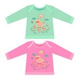 Färgläggningbok för ungar Knapphändig liten rosa färgand med ankungar Royaltyfria Foton
