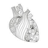 Färgläggningillustration av hjärta Arkivbild