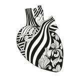 Färgläggningillustration av hjärta Arkivfoto