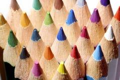 färgmakroblyertspennor Royaltyfria Bilder