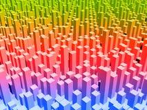 färgmetropolis Arkivbild