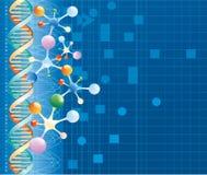 färgmolekylar Arkivfoton