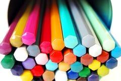 färgpalettblyertspennor Arkivbilder