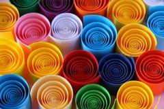 färgpapper Arkivfoto