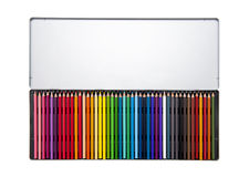 Färgpennor Arkivbild