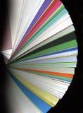 färgprovkartaflikar Fotografering för Bildbyråer